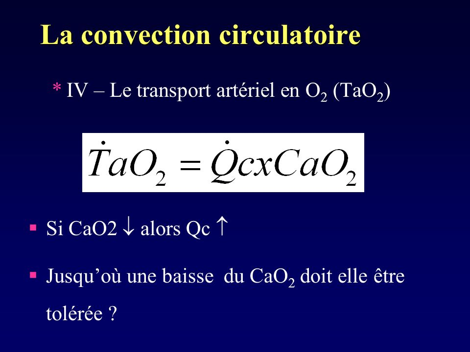 La convection circulatoire