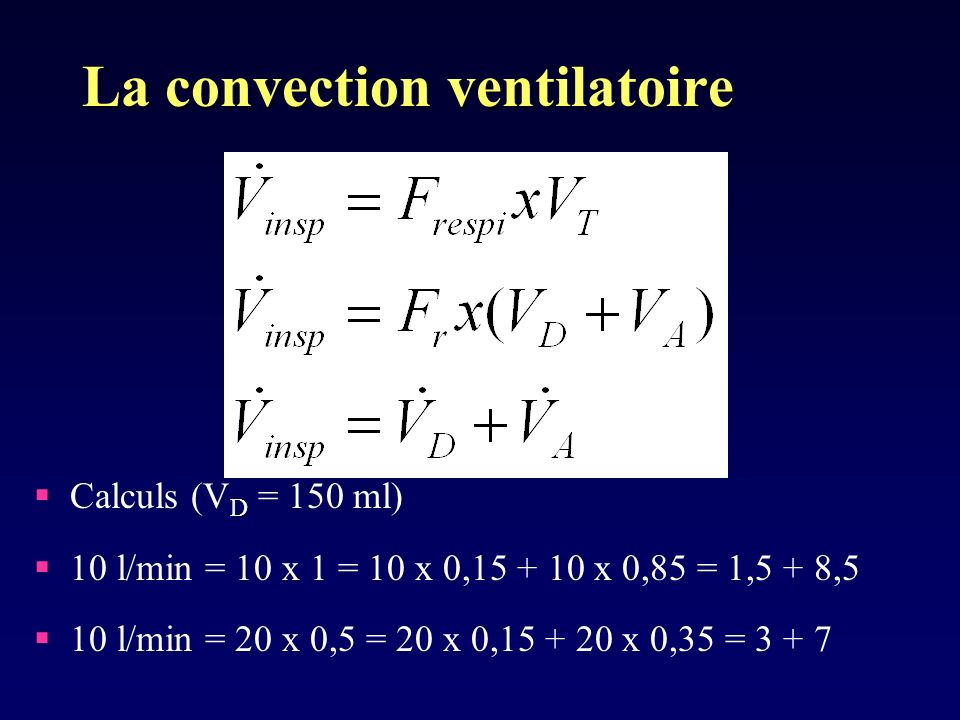 La convection ventilatoire