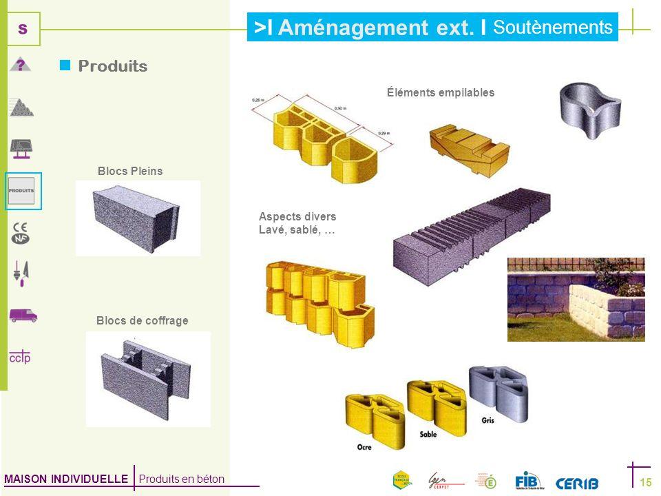 Produits Éléments empilables Blocs Pleins