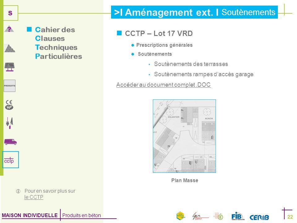 Cahier des Clauses Techniques Particulières CCTP – Lot 17 VRD