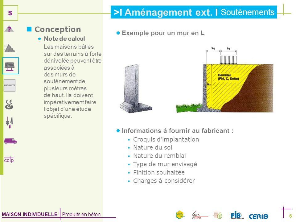 Conception Exemple pour un mur en L