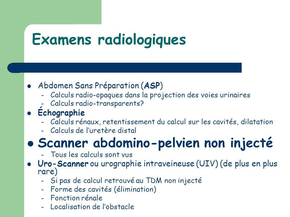 Examens radiologiques