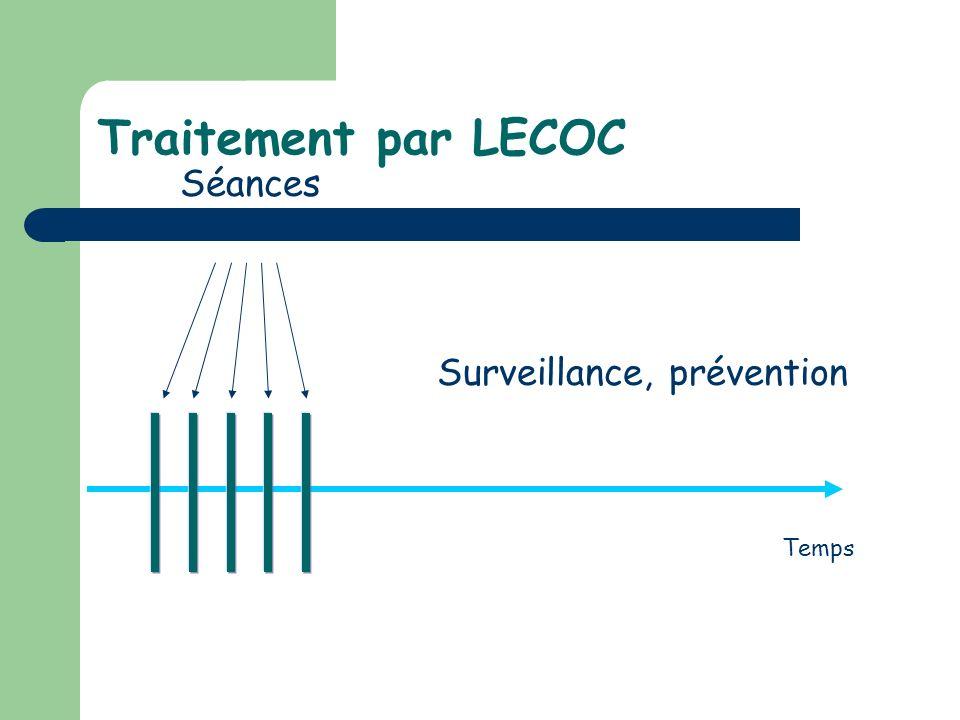 Traitement par LECOC Séances Surveillance, prévention Temps