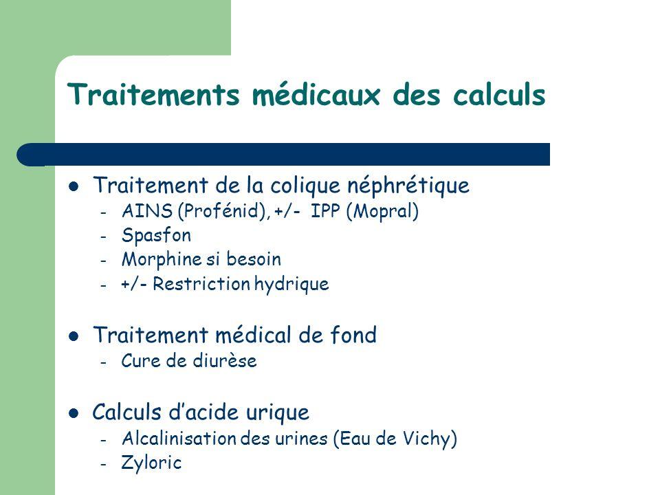 Traitements médicaux des calculs