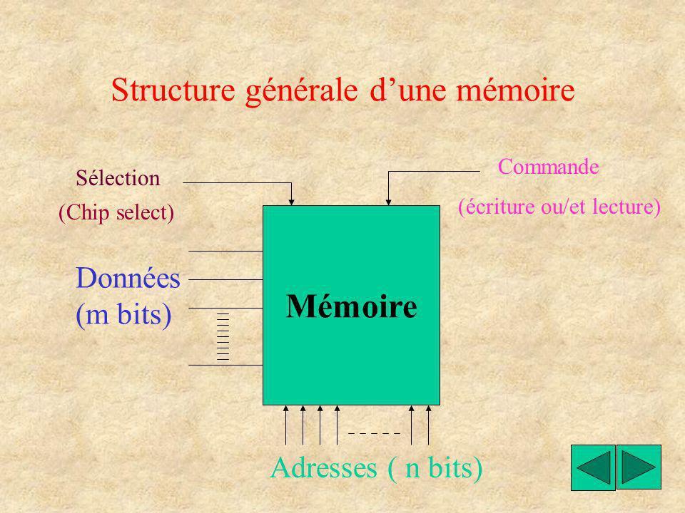 Structure générale d'une mémoire