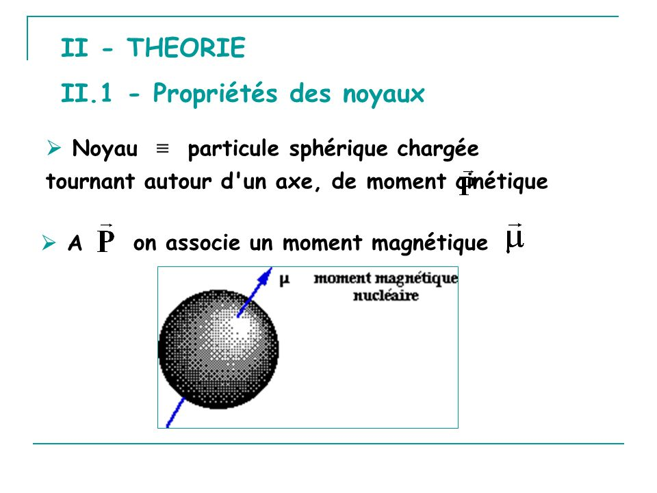 II.1 - Propriétés des noyaux