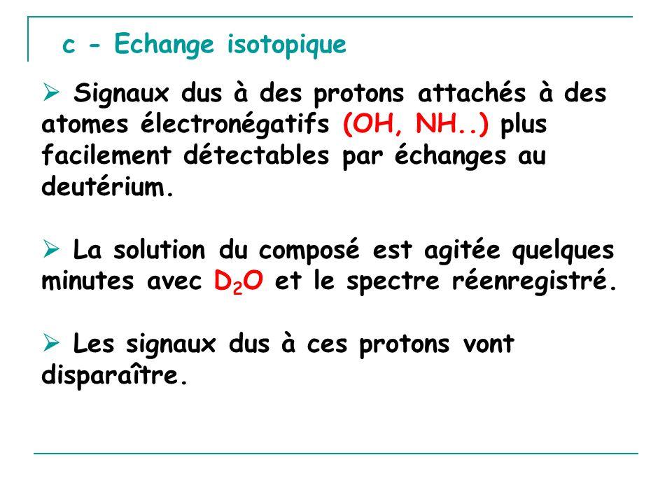 c - Echange isotopique