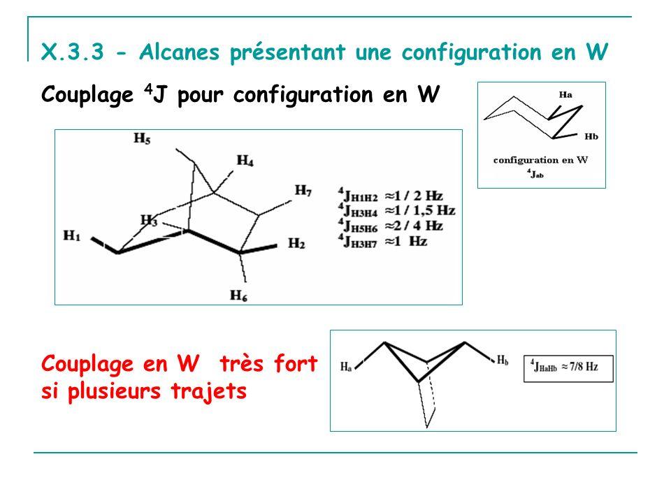 X.3.3 - Alcanes présentant une configuration en W