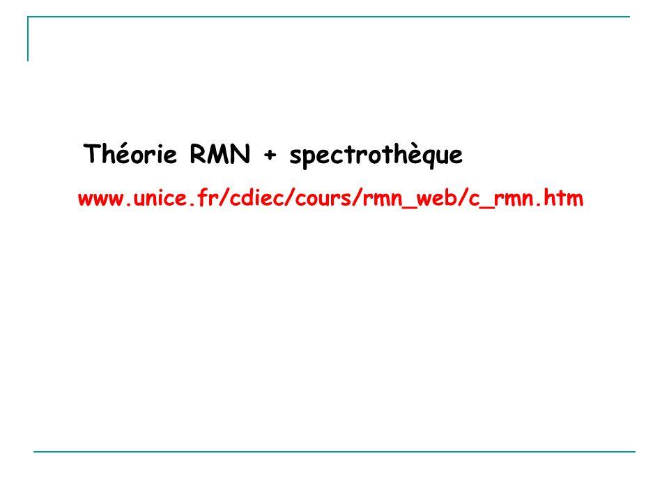 Théorie RMN + spectrothèque