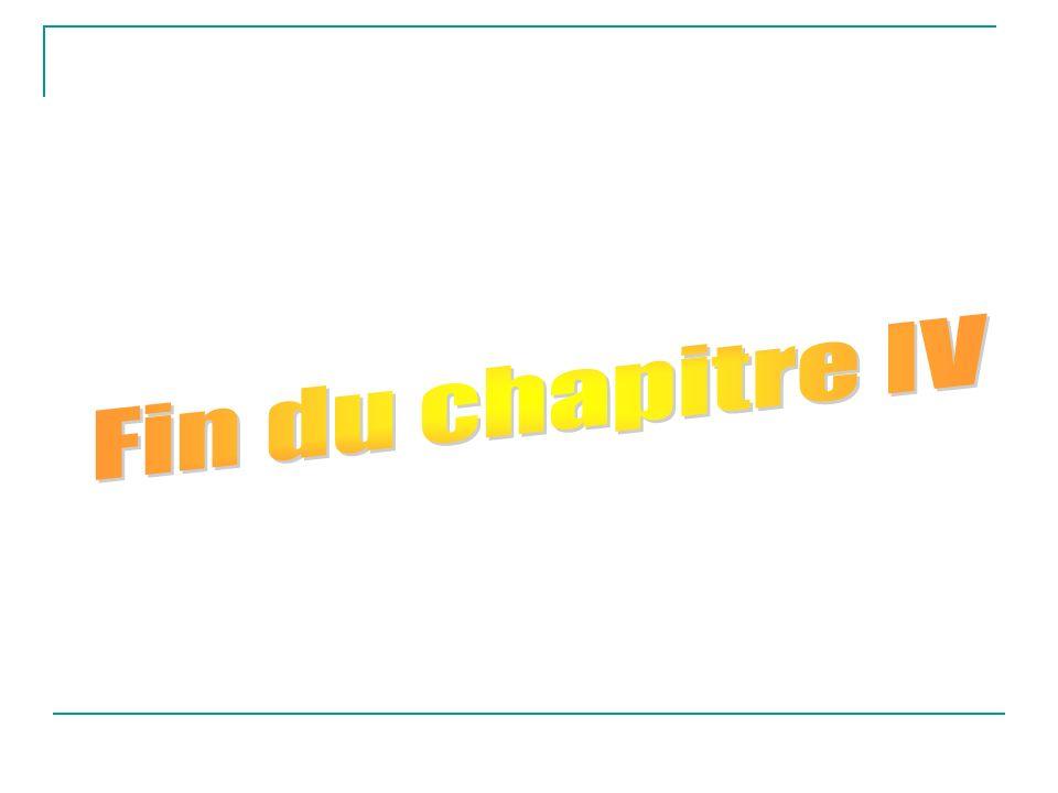 Fin du chapitre IV