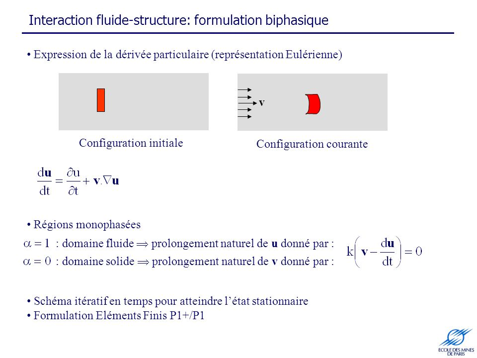 Interaction fluide-structure: formulation biphasique