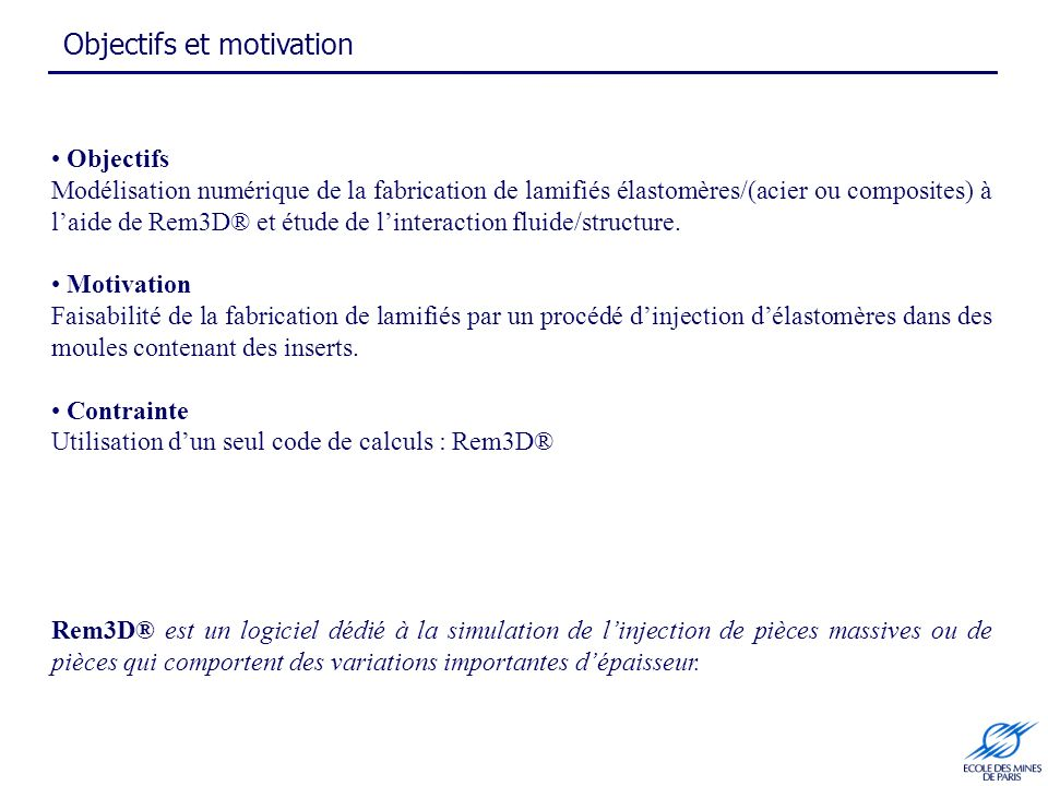 Objectifs et motivation