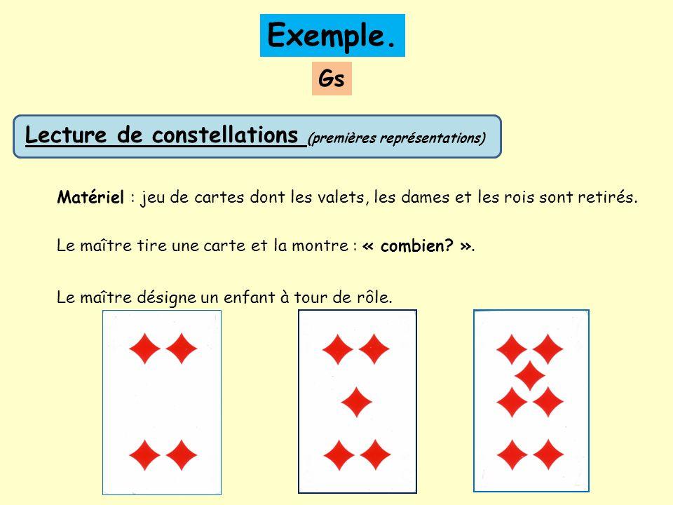 Exemple. Gs Lecture de constellations (premières représentations)