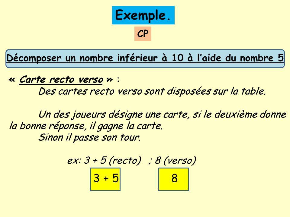 Décomposer un nombre inférieur à 10 à l'aide du nombre 5