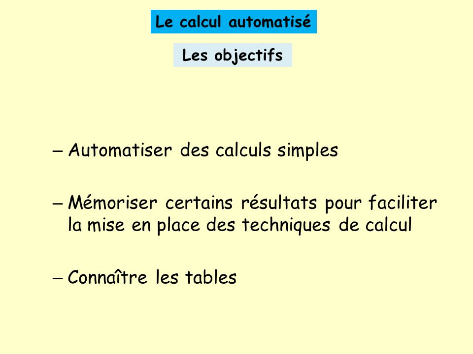 Automatiser des calculs simples