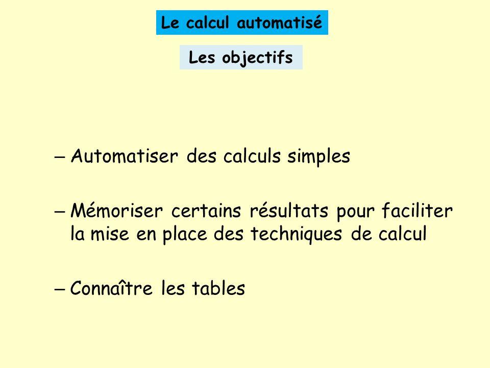 Automatiser des calculs simples