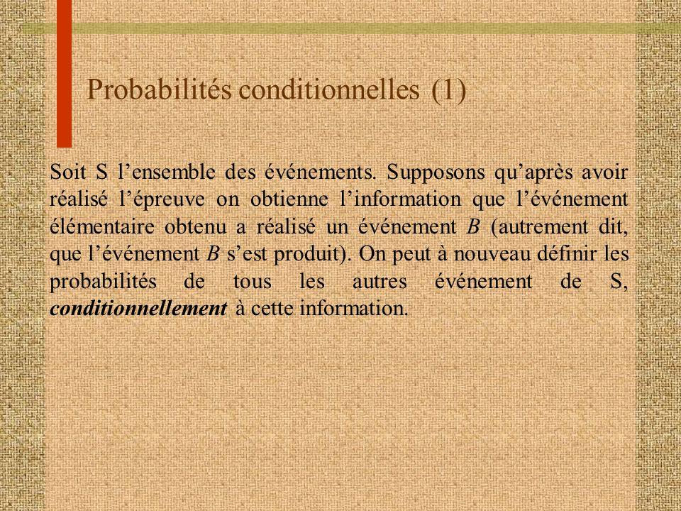 Probabilités conditionnelles (1)