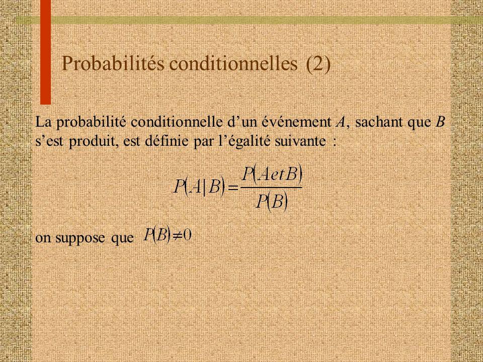 Probabilités conditionnelles (2)