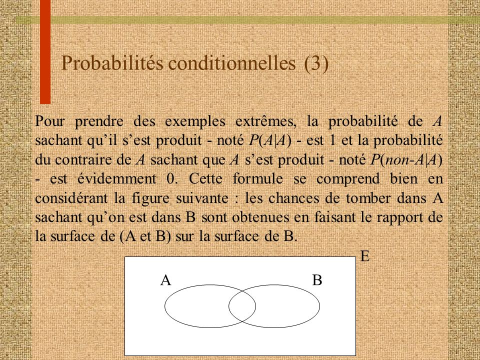 Probabilités conditionnelles (3)