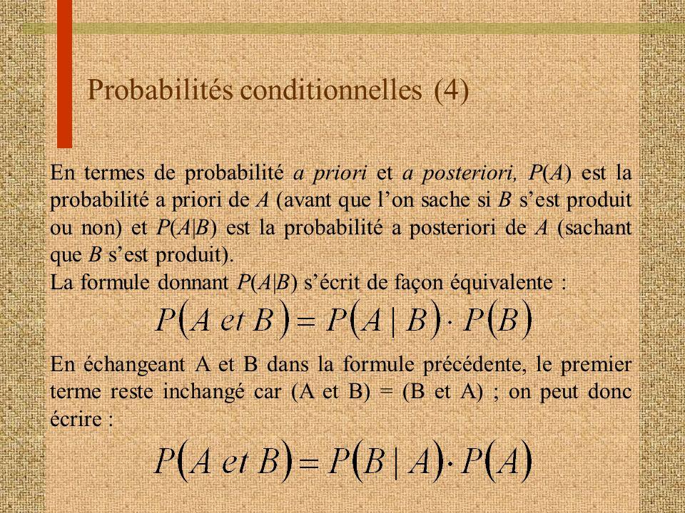 Probabilités conditionnelles (4)