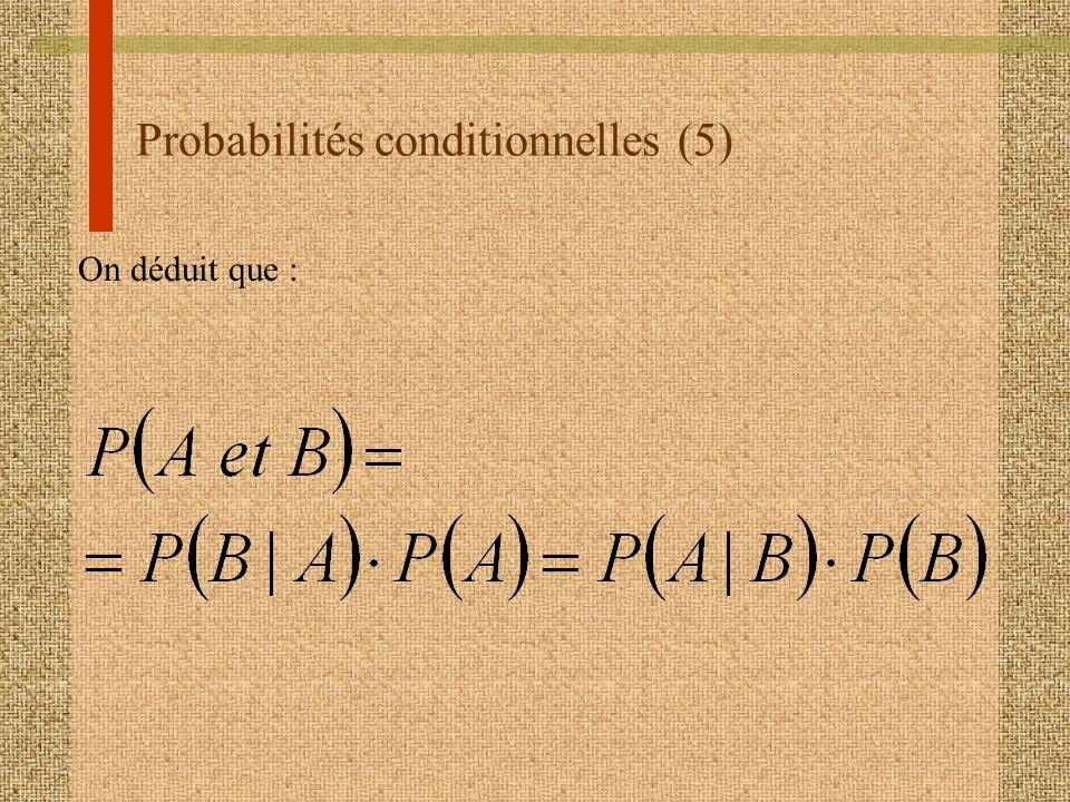 Probabilités conditionnelles (5)