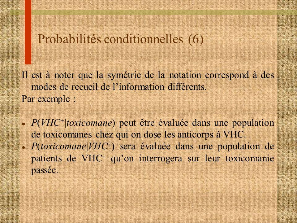 Probabilités conditionnelles (6)
