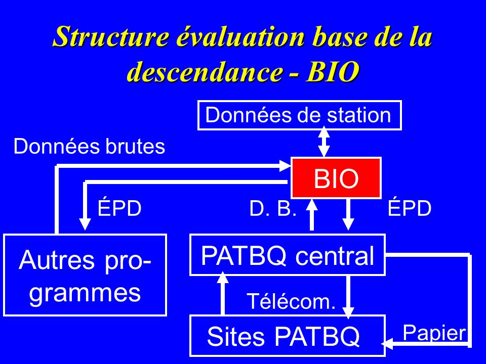 Structure évaluation base de la descendance - BIO
