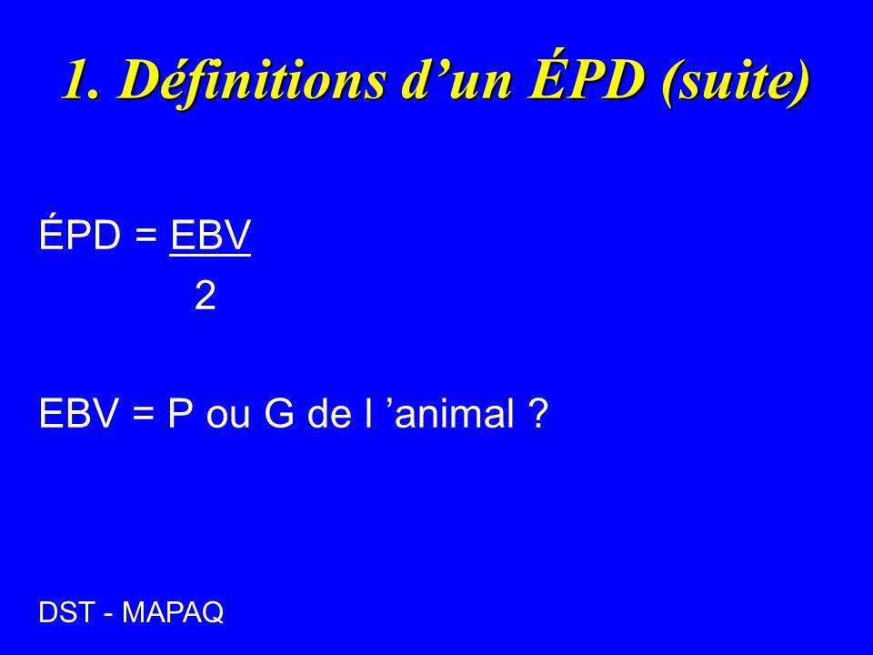 1. Définitions d'un ÉPD (suite)