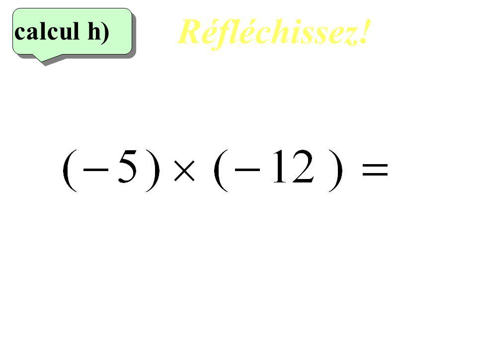 Réfléchissez! calcul h) 8eme calcul 18