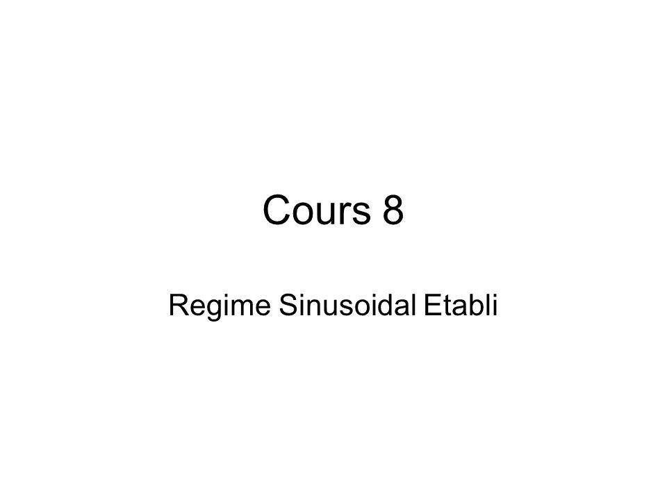 Regime Sinusoidal Etabli