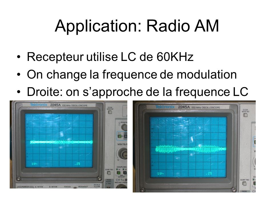 Application: Radio AM Recepteur utilise LC de 60KHz