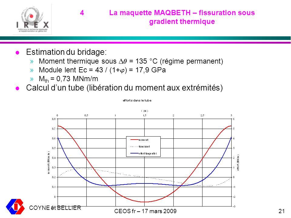 4 La maquette MAQBETH – fissuration sous gradient thermique
