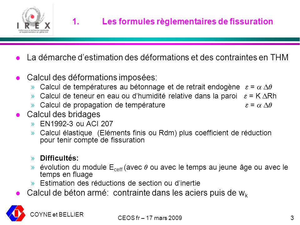 1. Les formules règlementaires de fissuration