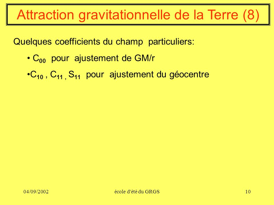 Attraction gravitationnelle de la Terre (8)