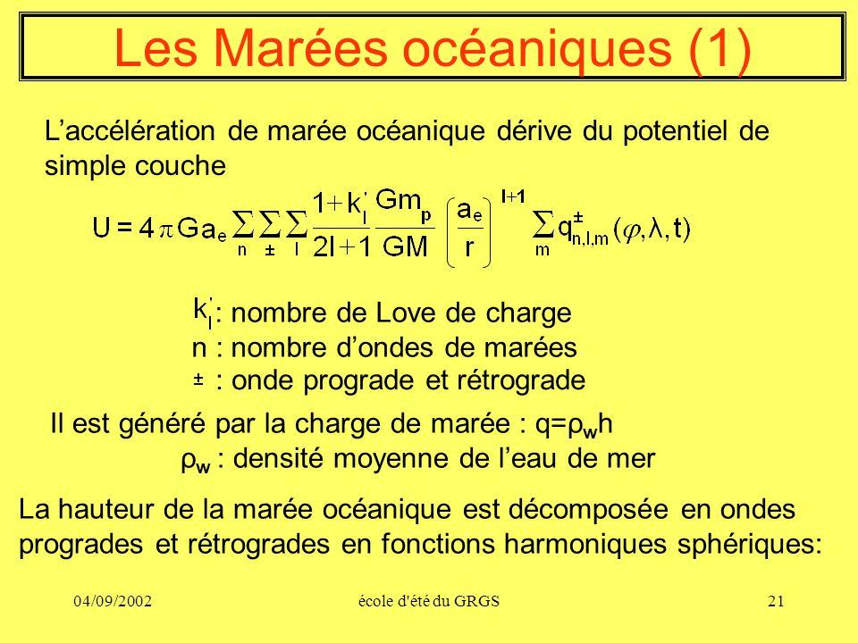 Les Marées océaniques (1)