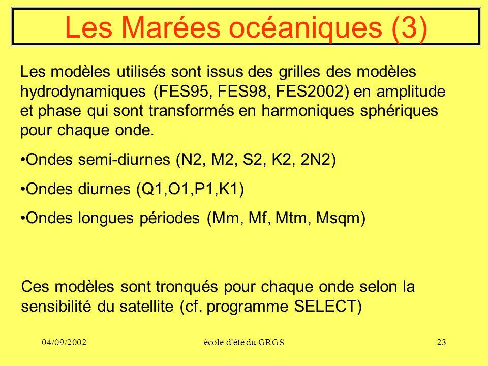 Les Marées océaniques (3)
