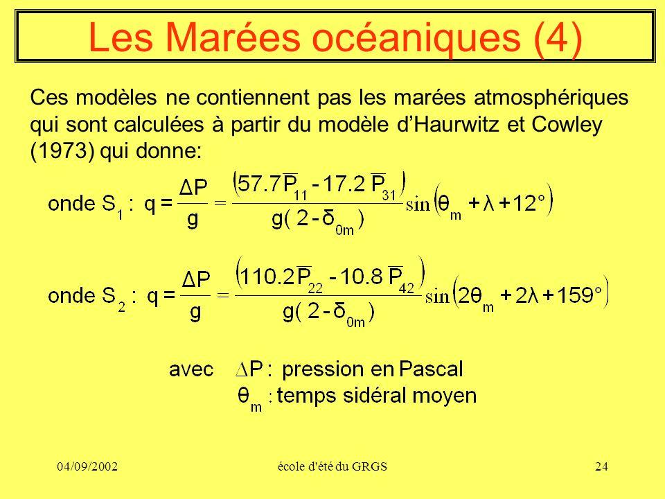 Les Marées océaniques (4)