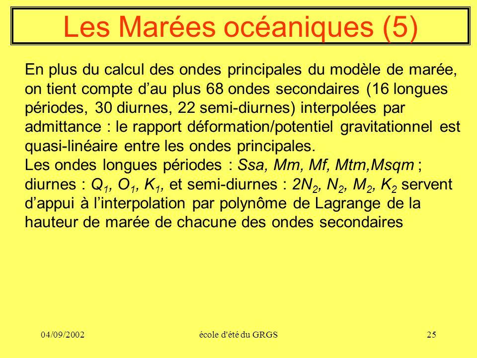 Les Marées océaniques (5)