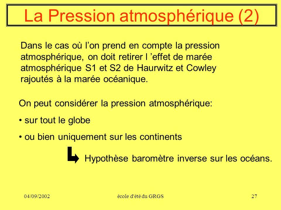 La Pression atmosphérique (2)