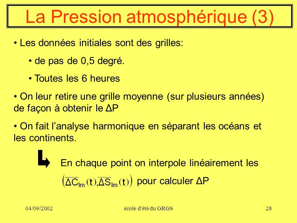 La Pression atmosphérique (3)