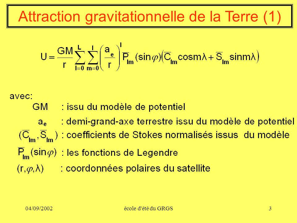 Attraction gravitationnelle de la Terre (1)