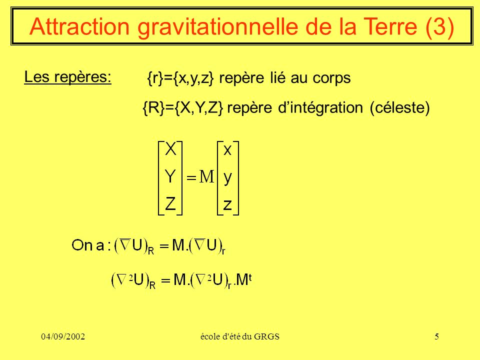 Attraction gravitationnelle de la Terre (3)