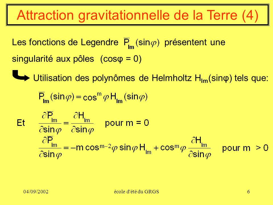 Attraction gravitationnelle de la Terre (4)