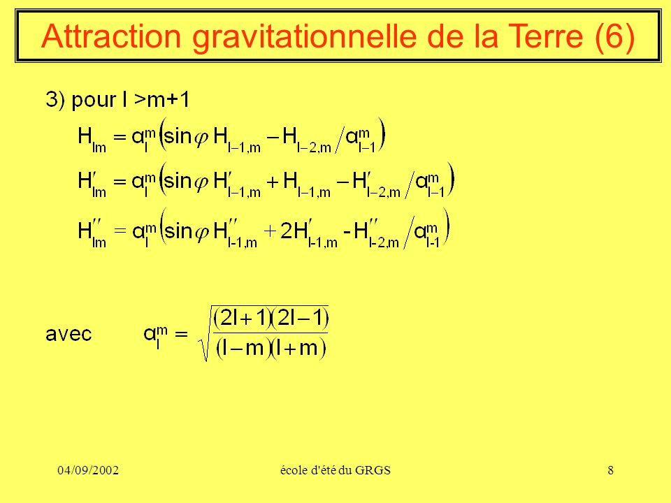 Attraction gravitationnelle de la Terre (6)