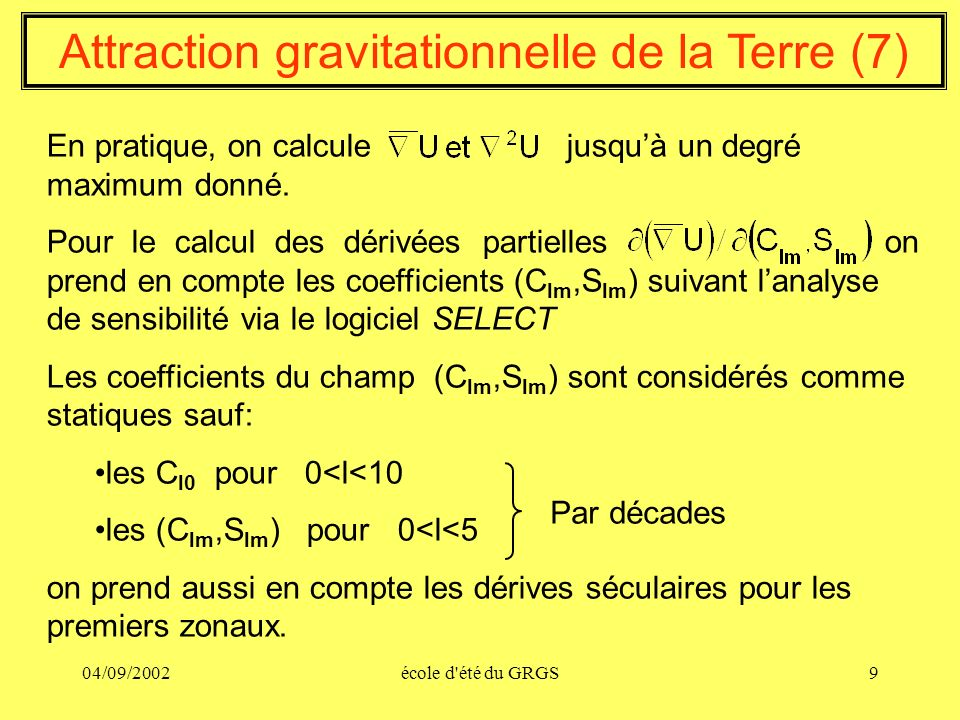 Attraction gravitationnelle de la Terre (7)