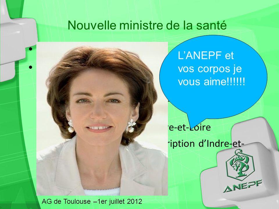Nouvelle ministre de la santé