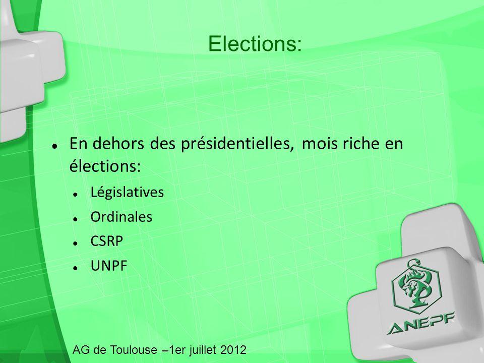Elections: En dehors des présidentielles, mois riche en élections: