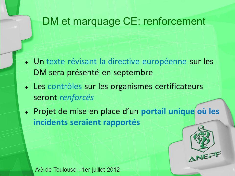 DM et marquage CE: renforcement
