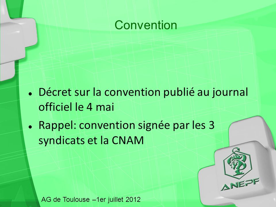 Décret sur la convention publié au journal officiel le 4 mai