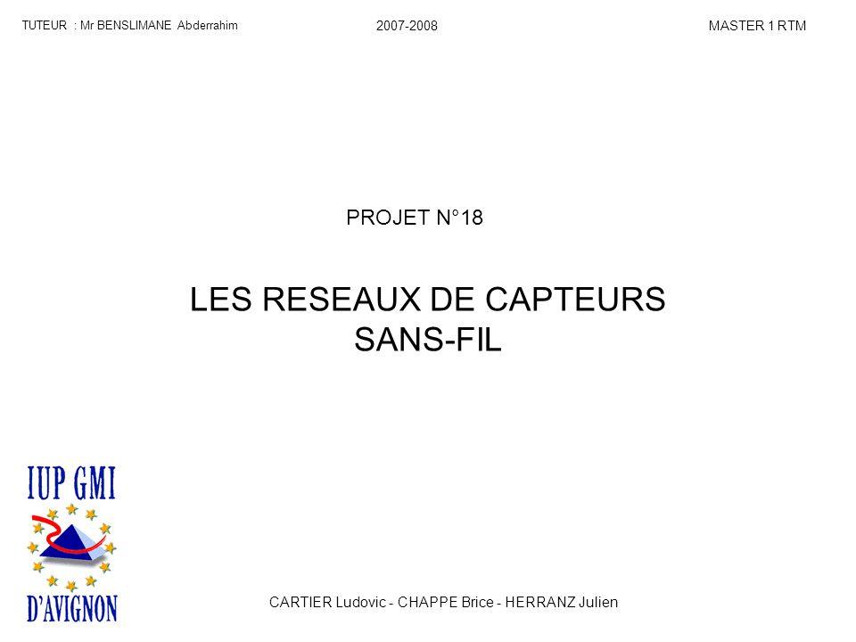 LES RESEAUX DE CAPTEURS SANS-FIL